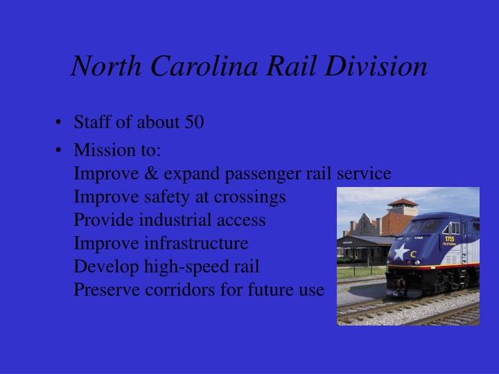 North carolina rail division