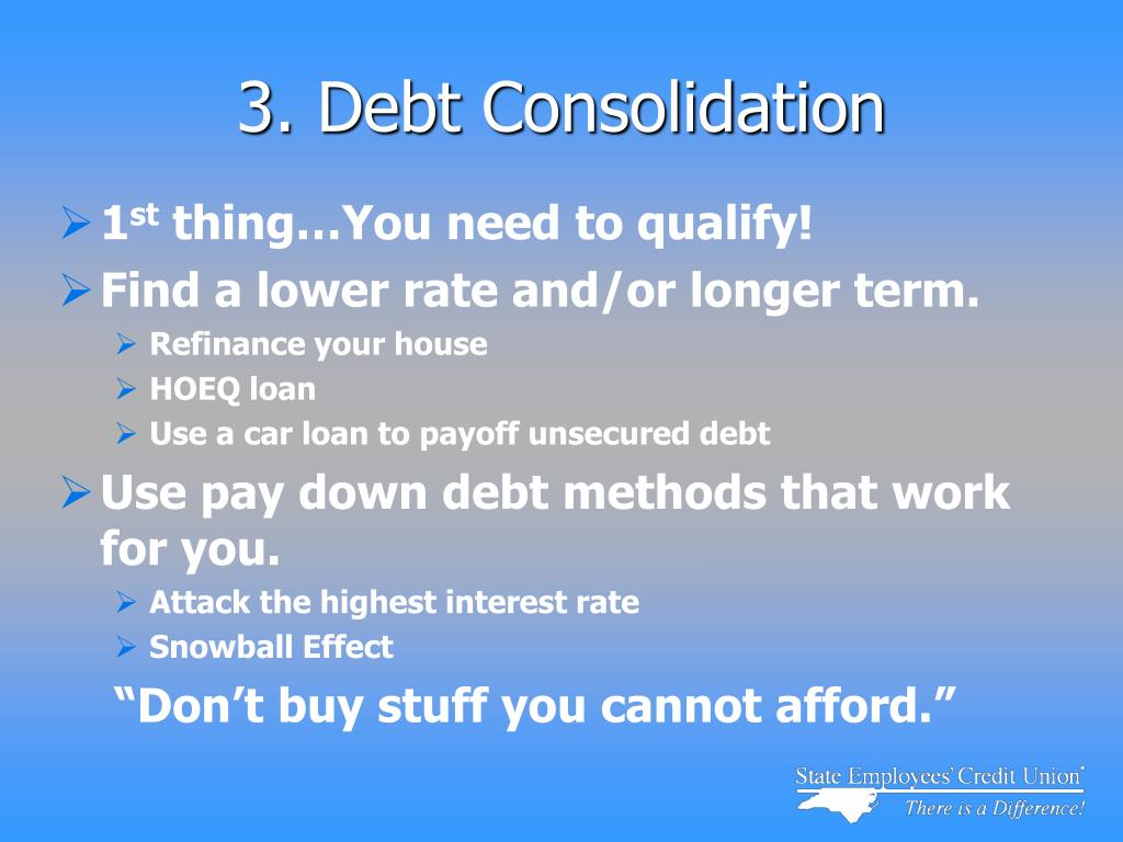 3. Debt Consolidation