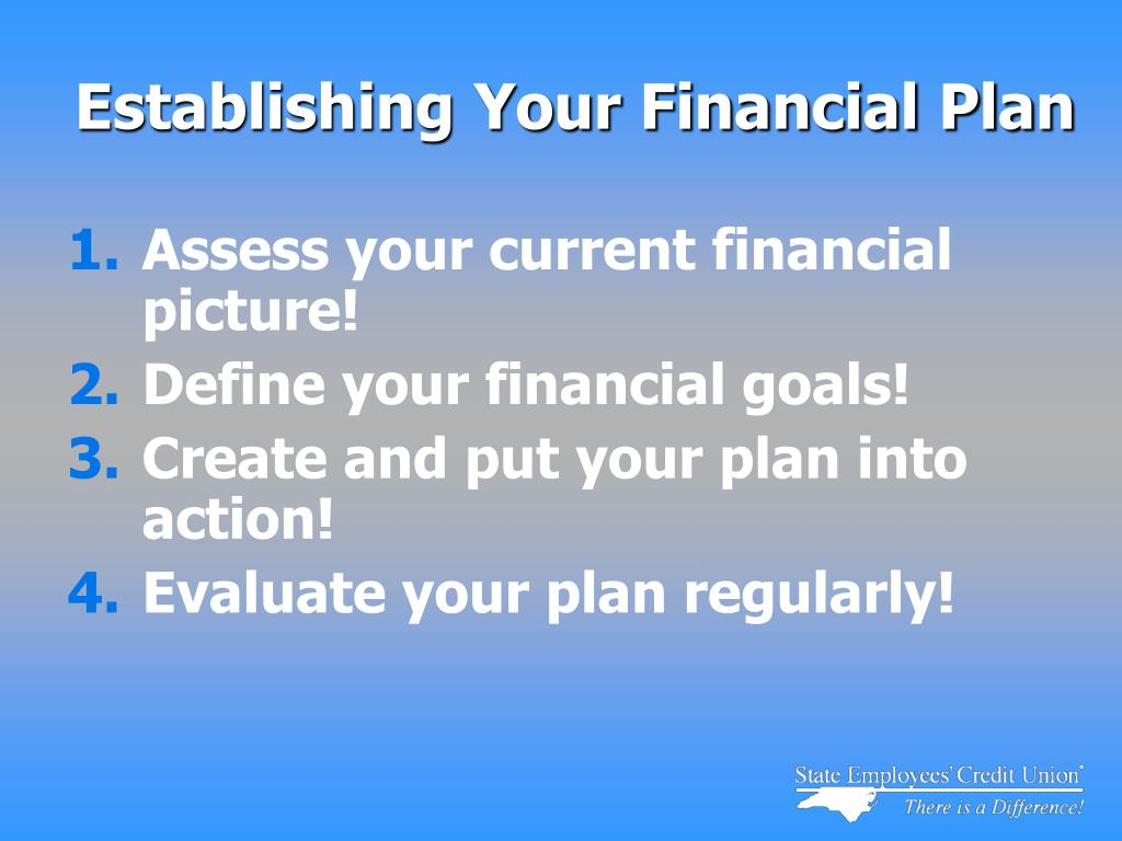 Establishing Your Financial Plan