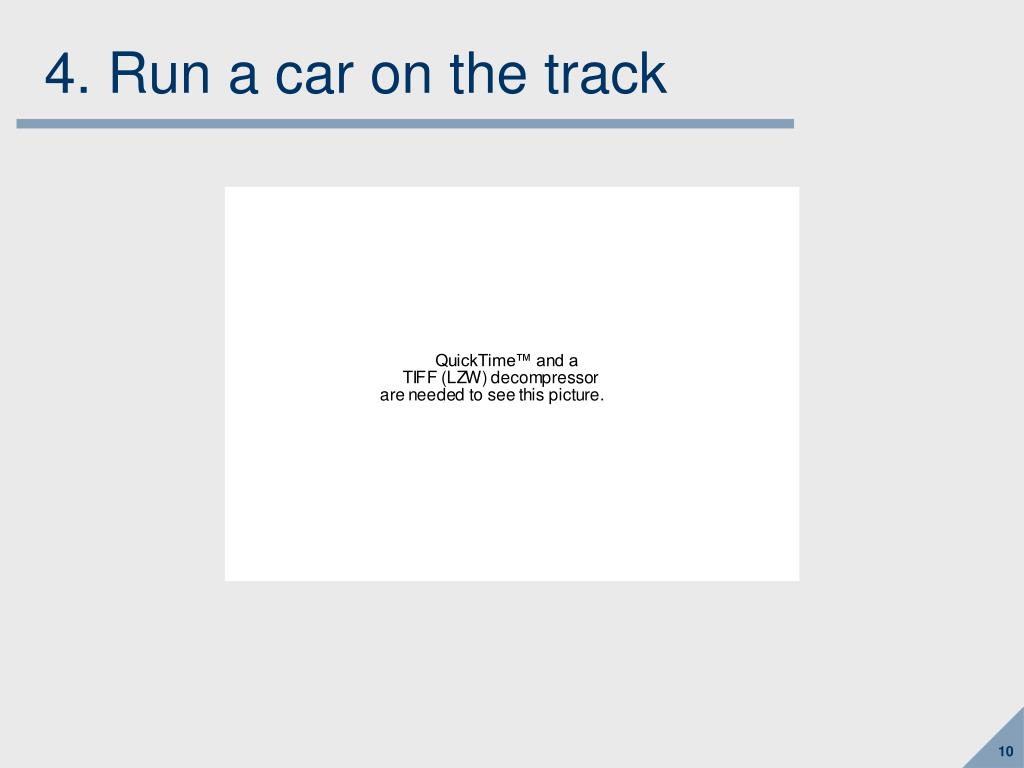 4. Run a car on the track
