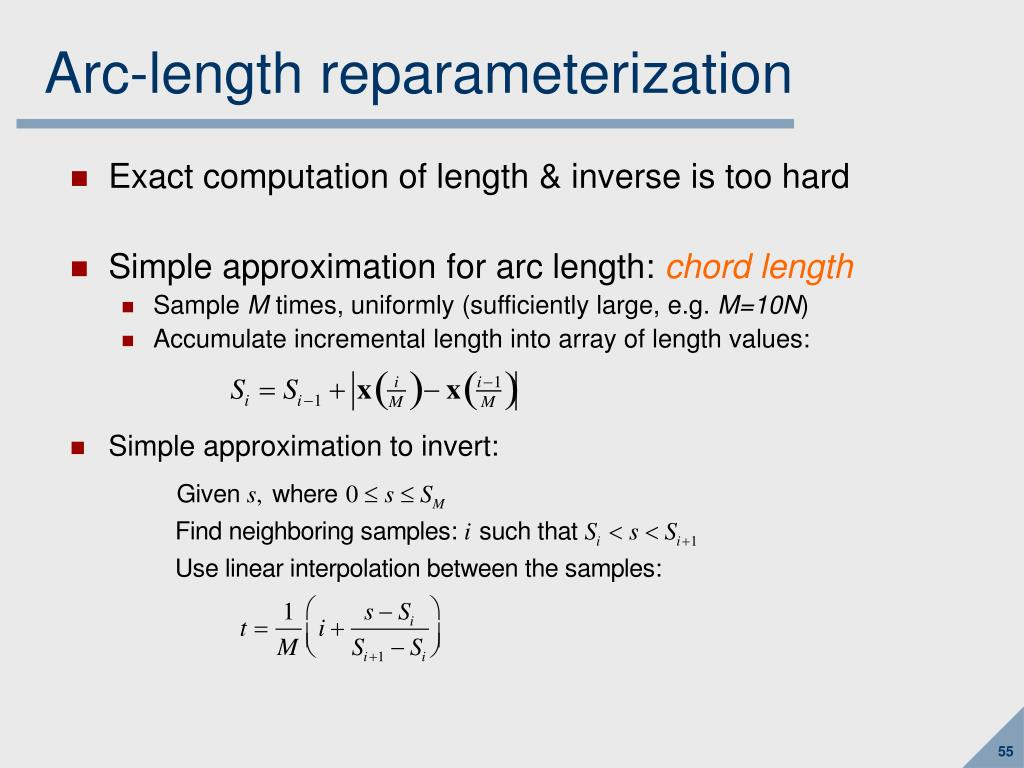 Arc-length reparameterization