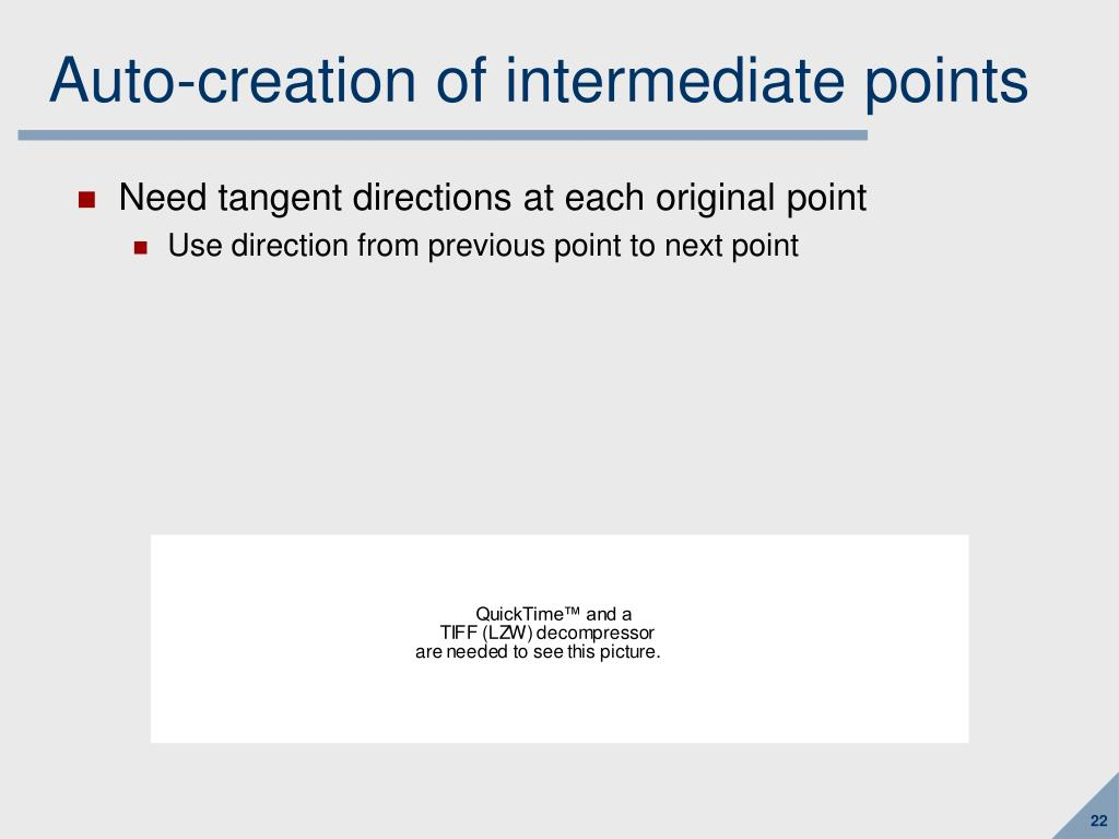 Auto-creation of intermediate points