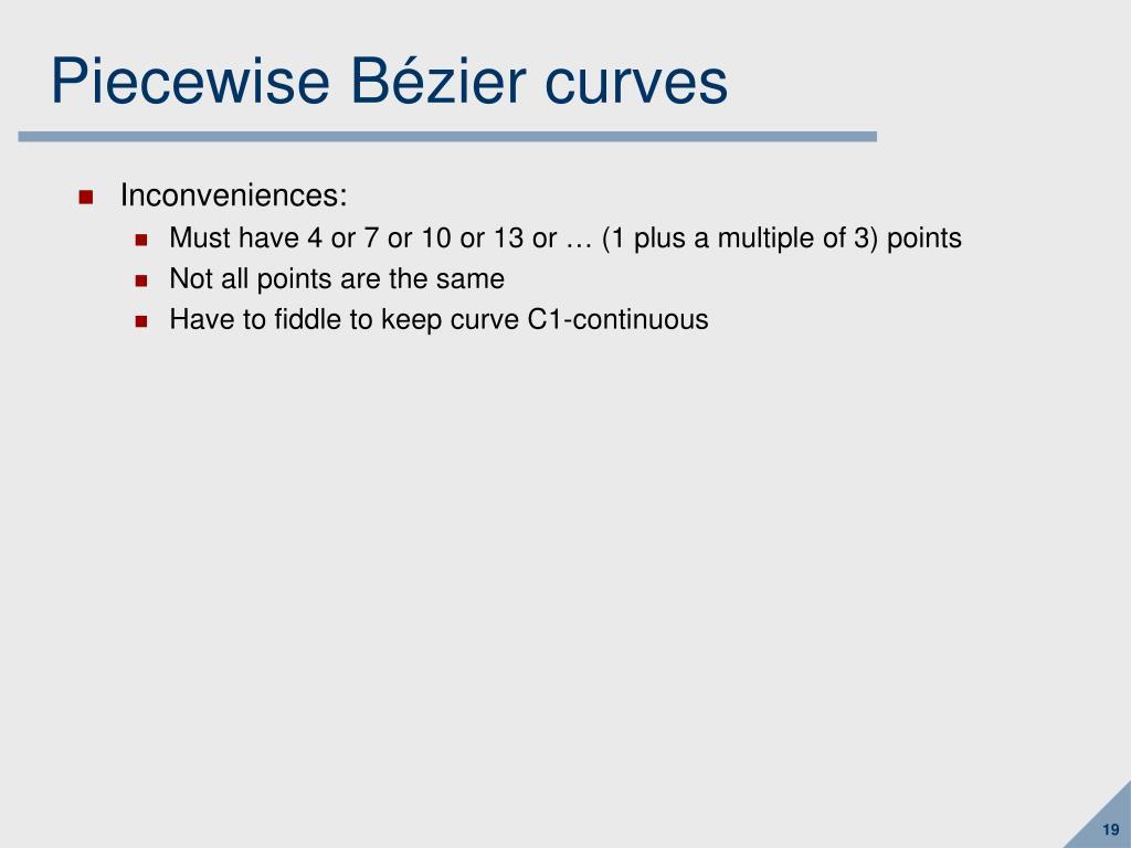 Piecewise Bézier curves