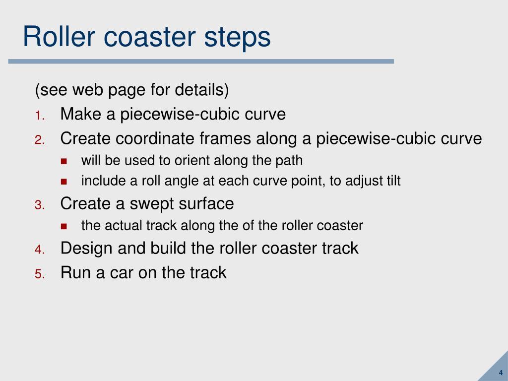 Roller coaster steps