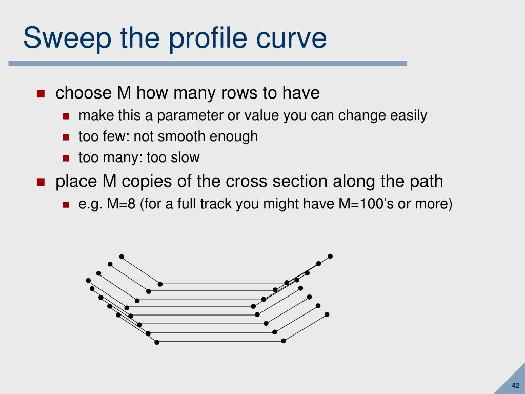 Sweep the profile curve