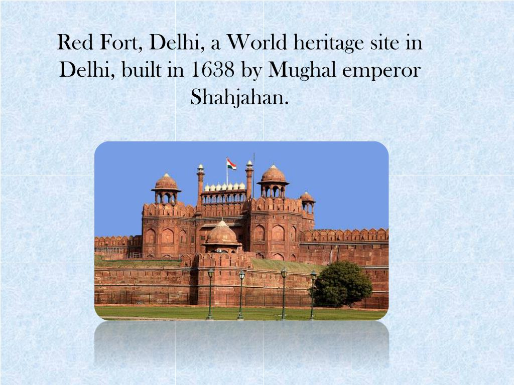 Red Fort, Delhi, a World heritage site in Delhi, built in 1638 by