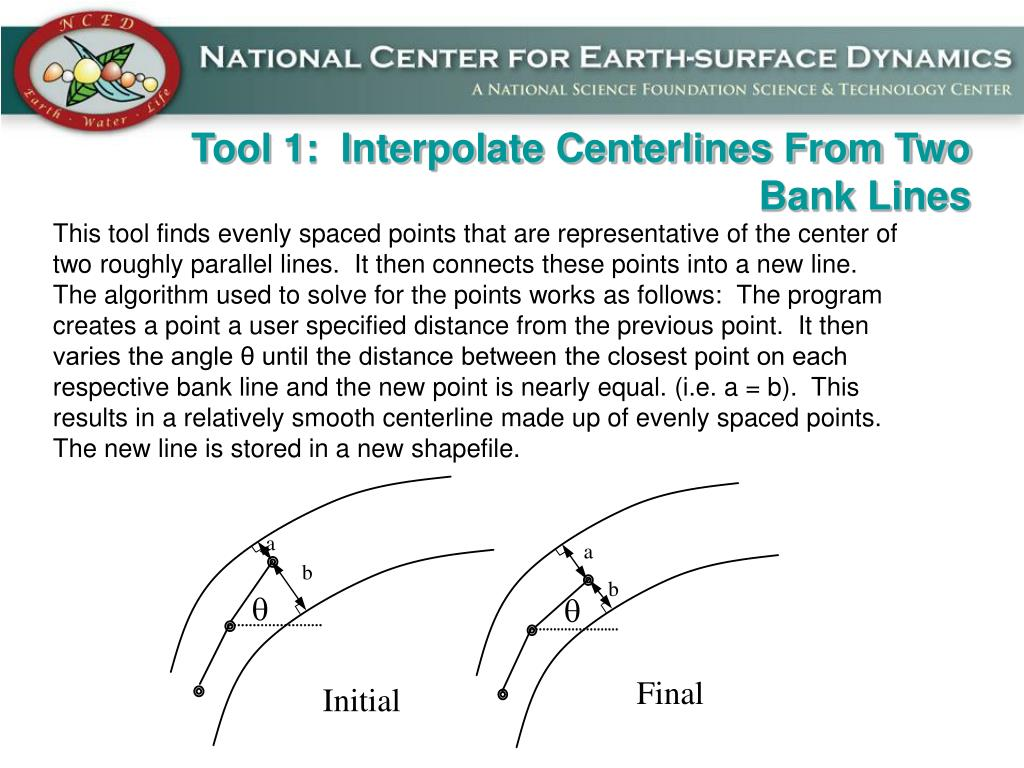 Tool 1:  Interpolate Centerlines From Two Bank Lines