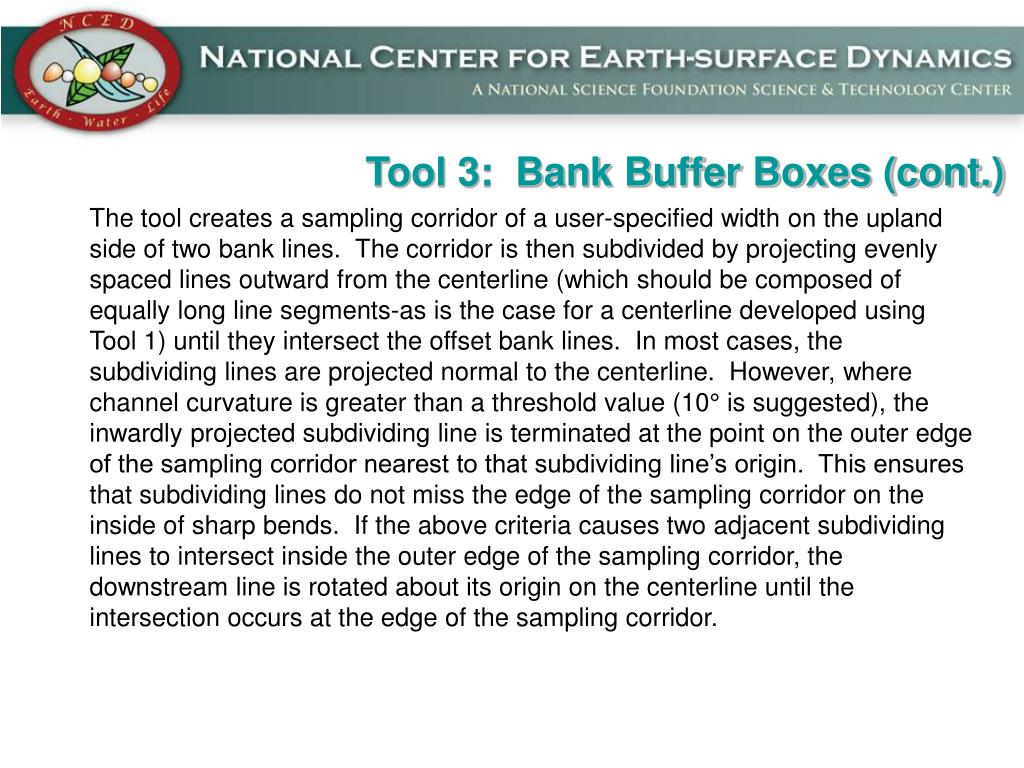 Tool 3:  Bank Buffer Boxes (cont.)