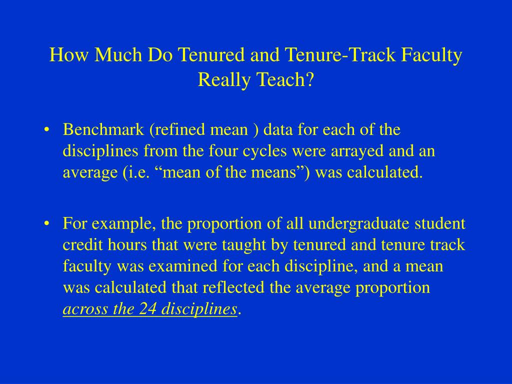 How Much Do Tenured and Tenure-Track Faculty Really Teach?