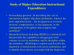study of higher education instructional expenditures31