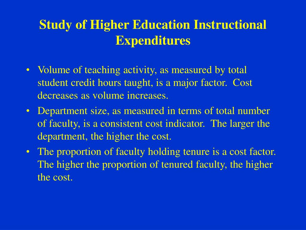 Study of Higher Education Instructional Expenditures