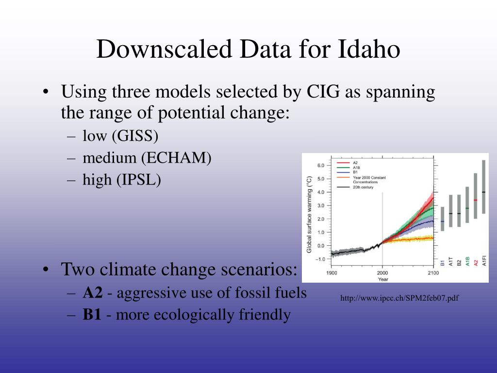 Downscaled Data for Idaho