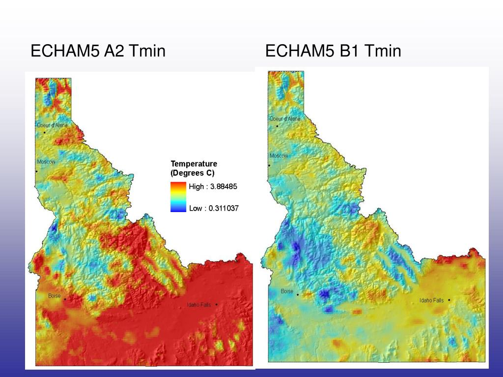 ECHAM5 A2 Tmin
