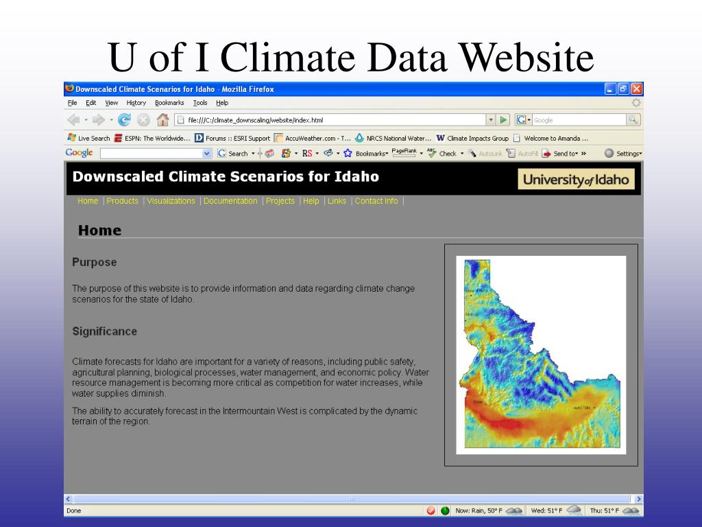 U of I Climate Data Website