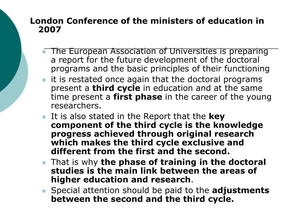 London Conference of the ministers of education in 2007
