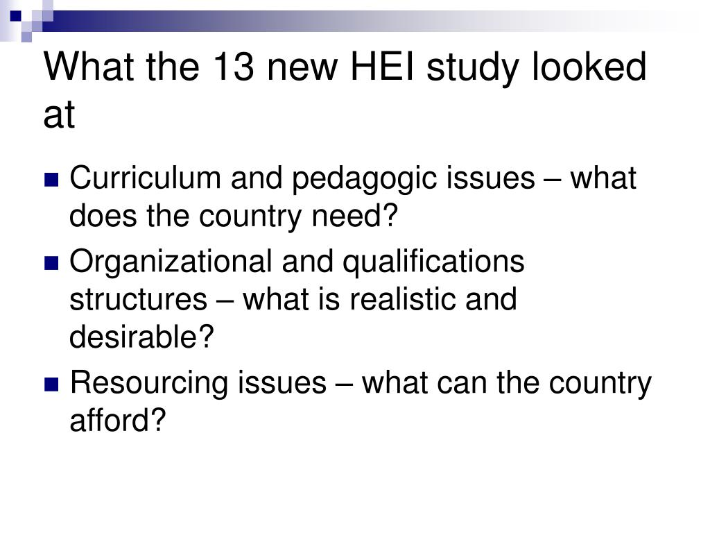 What the 13 new HEI study looked at