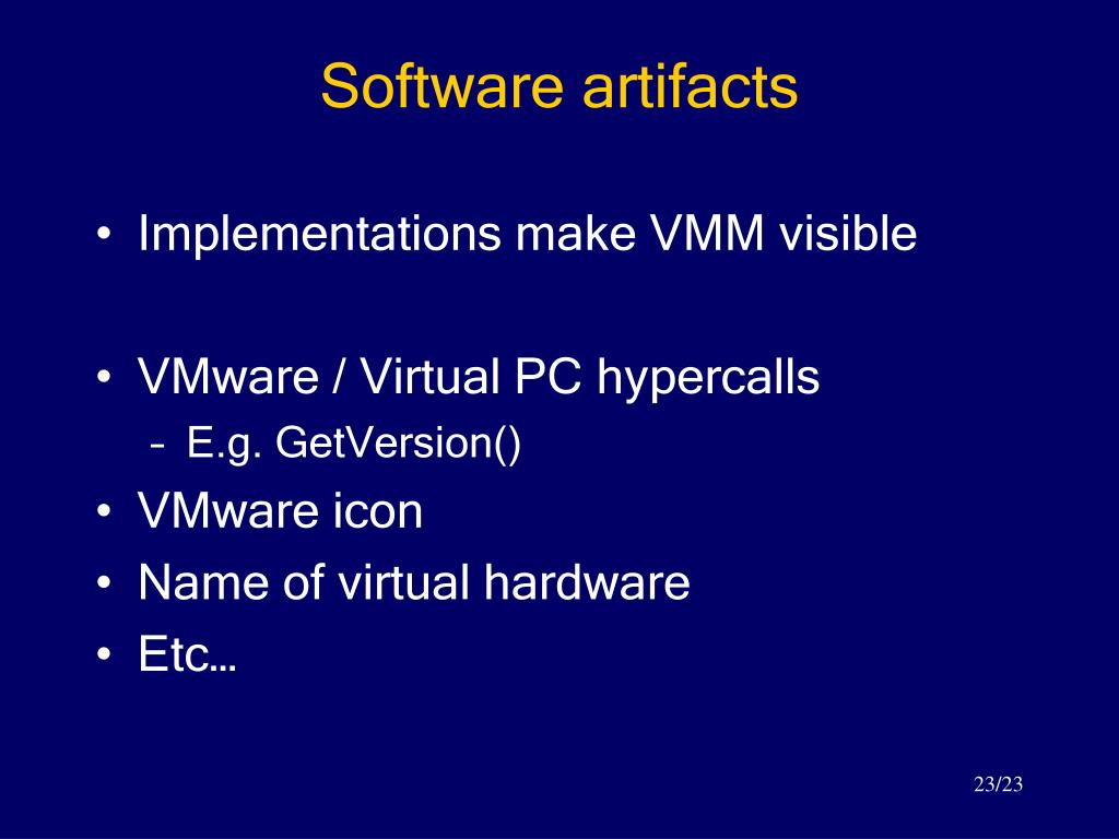 Software artifacts