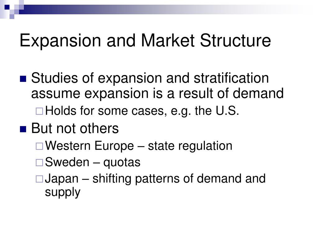Expansion and Market Structure