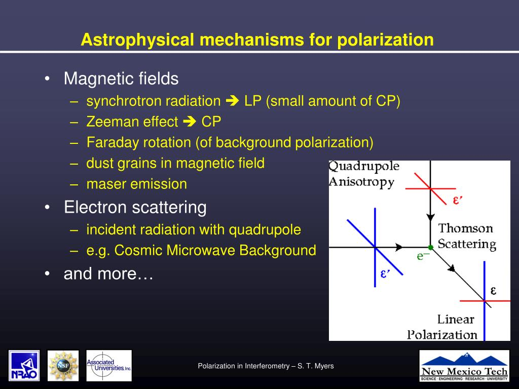 Astrophysical mechanisms for polarization