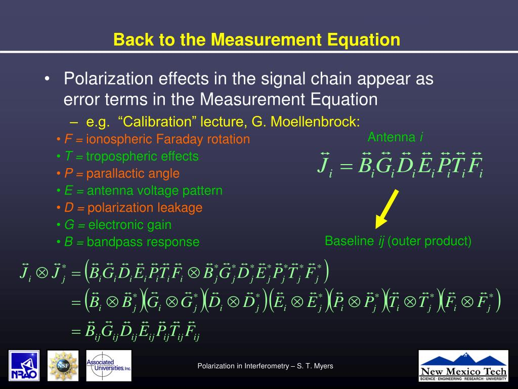 Back to the Measurement Equation