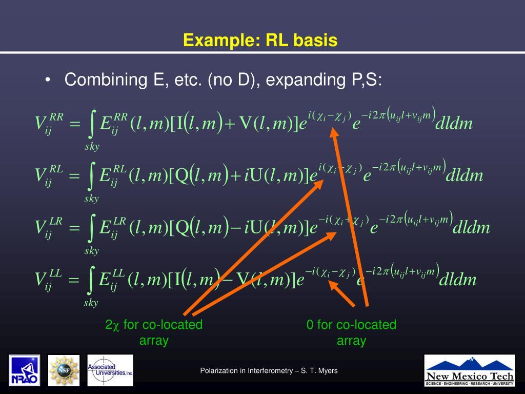 Example: RL basis