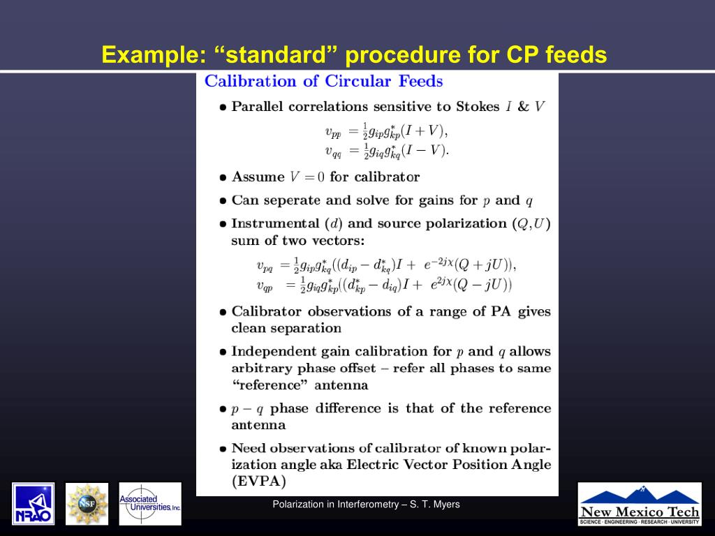"Example: ""standard"" procedure for CP feeds"