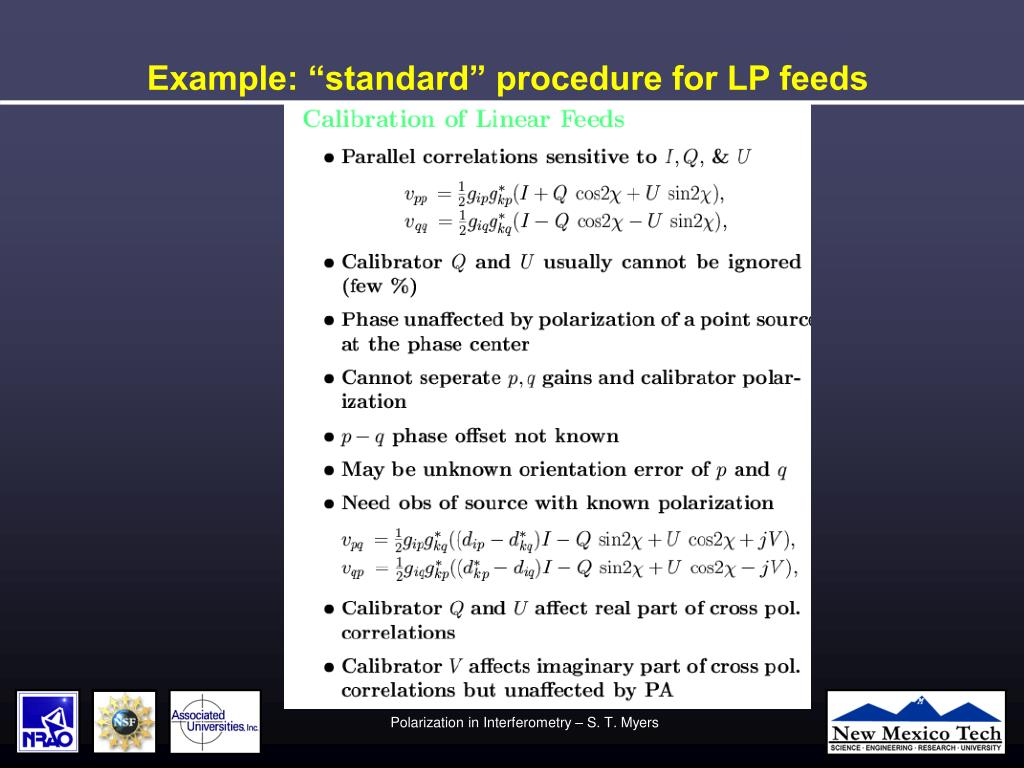 "Example: ""standard"" procedure for LP feeds"