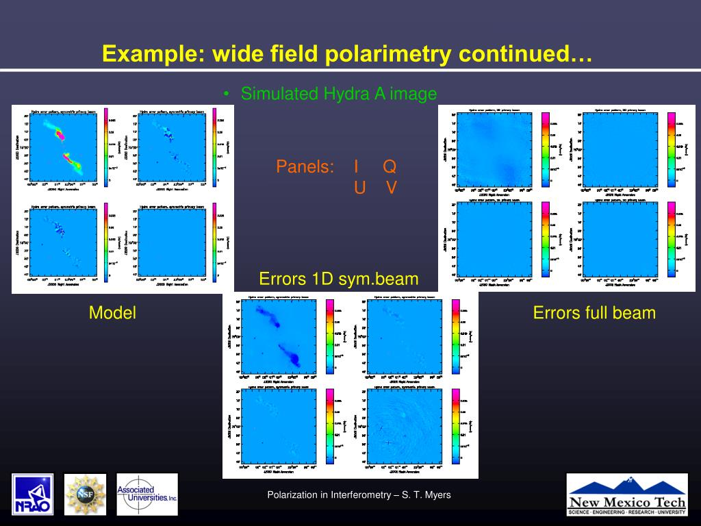 Example: wide field polarimetry continued…