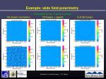 example wide field polarimetry