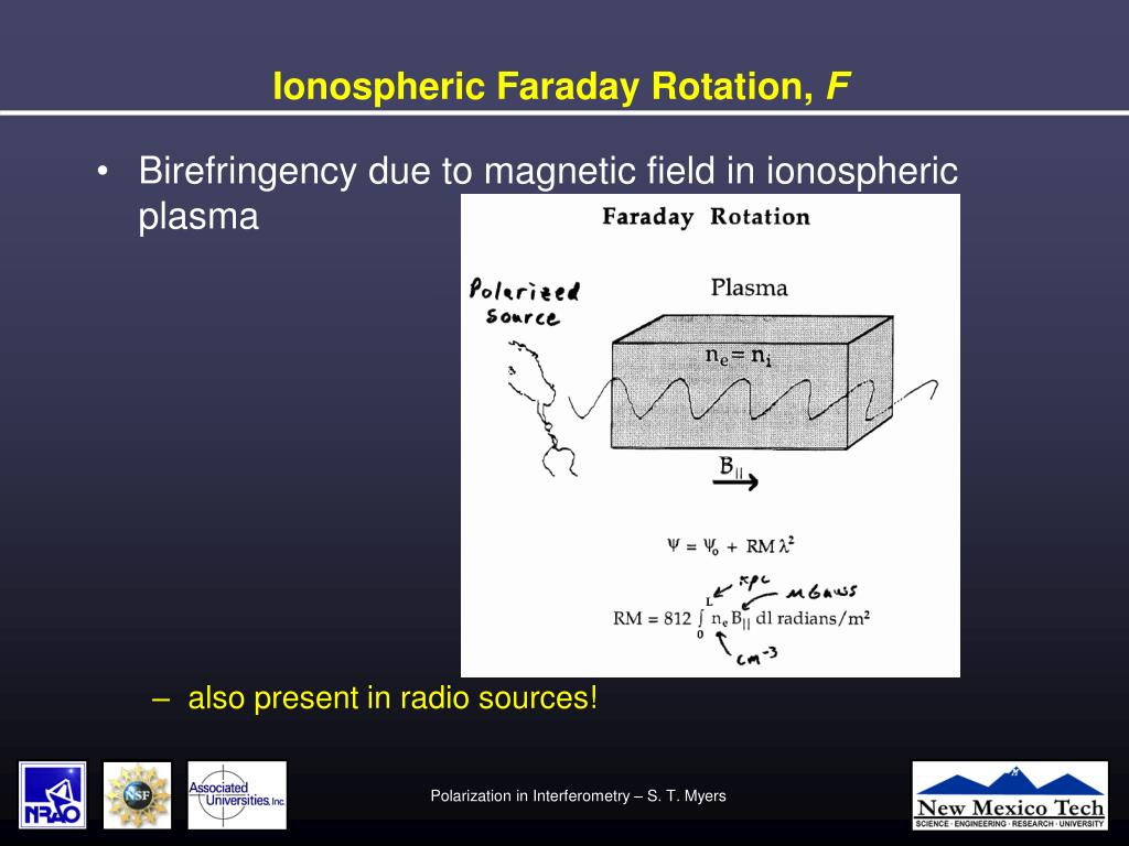 Ionospheric Faraday Rotation,