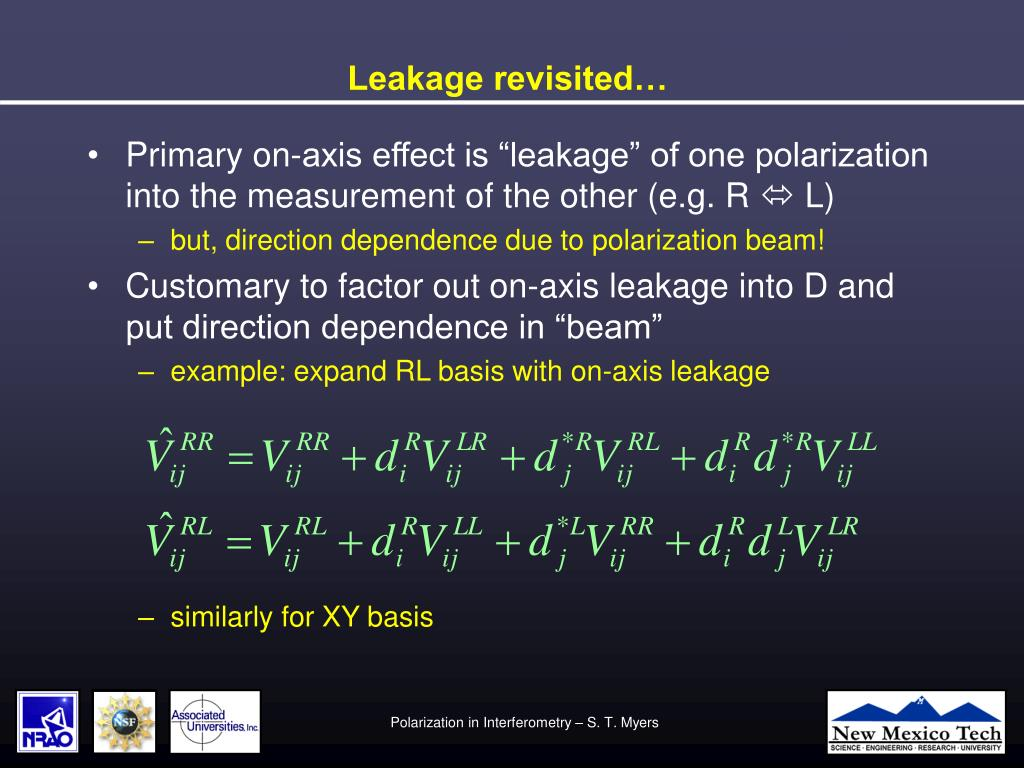 Leakage revisited…