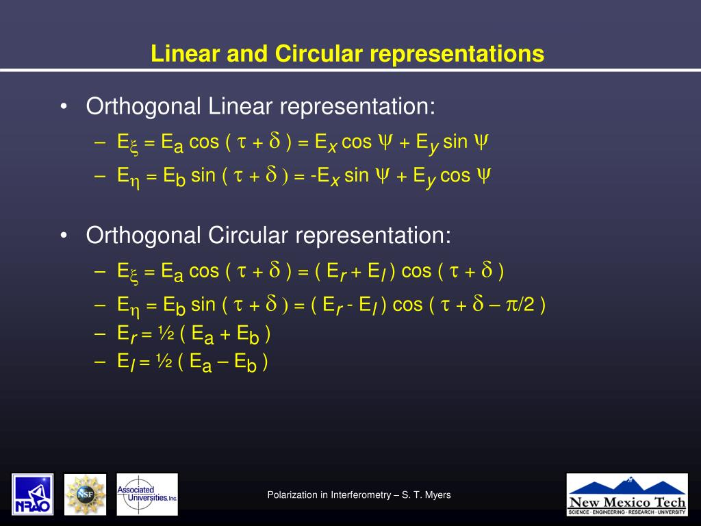 Linear and Circular representations