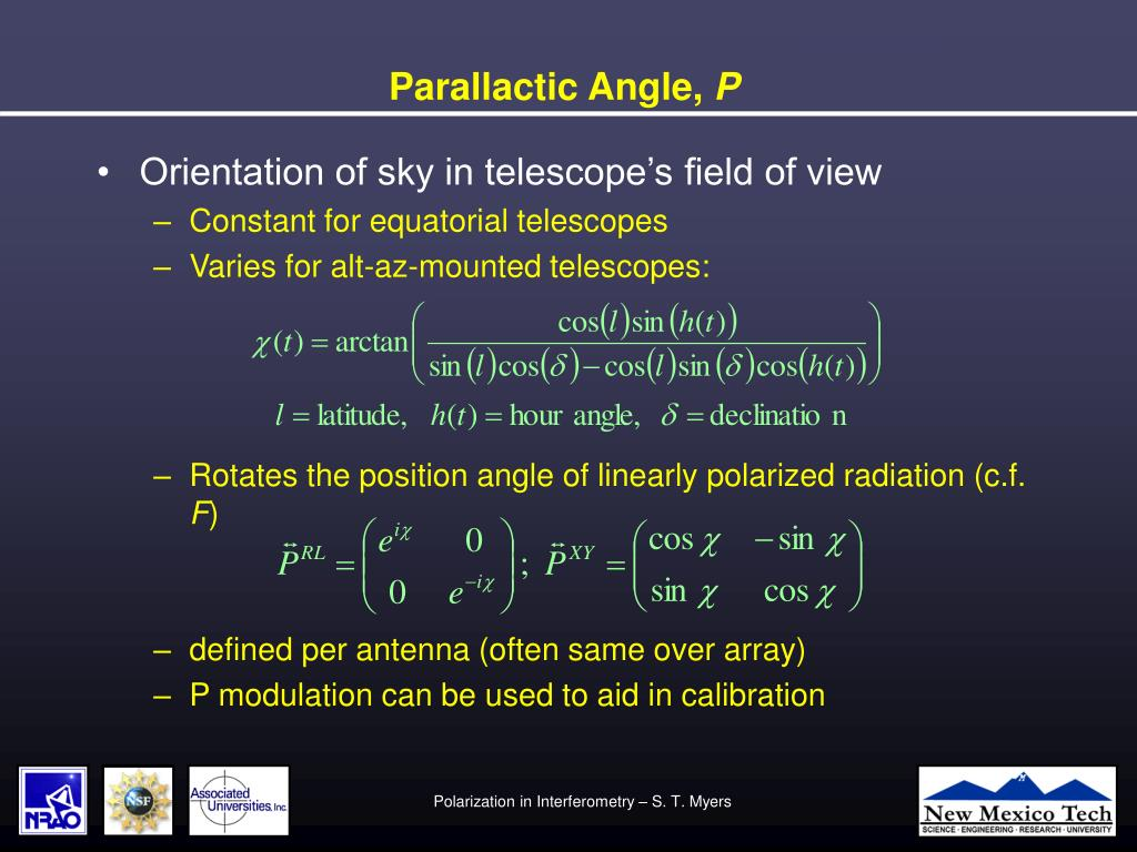 Parallactic Angle,
