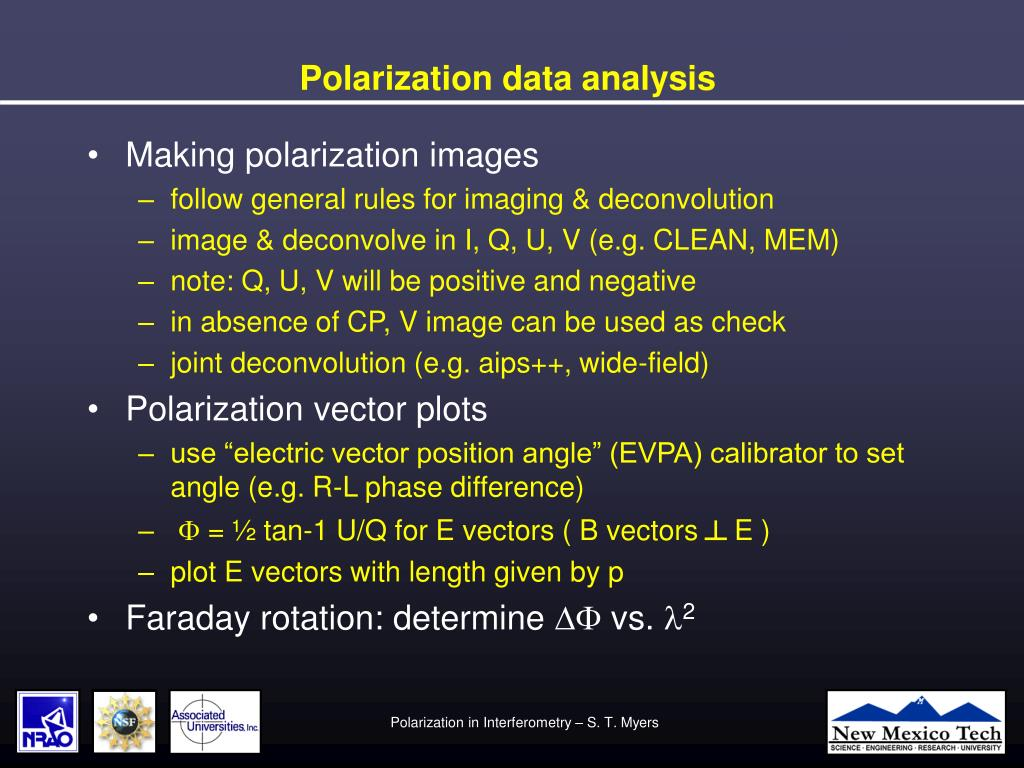 Polarization data analysis