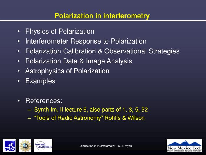 Polarization in interferometry2