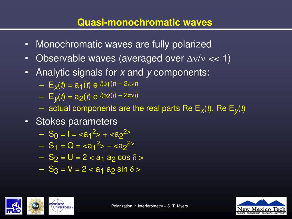 Quasi-monochromatic waves