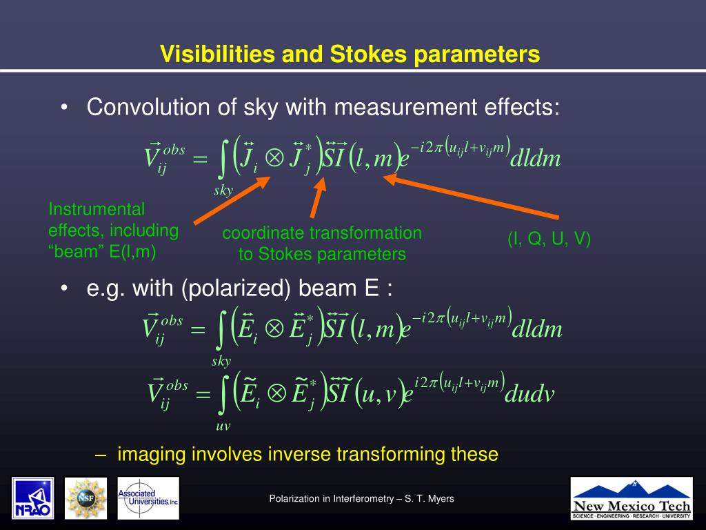 Visibilities and Stokes parameters