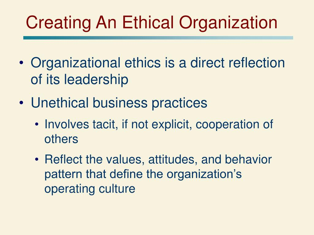 Creating the Ethics Report