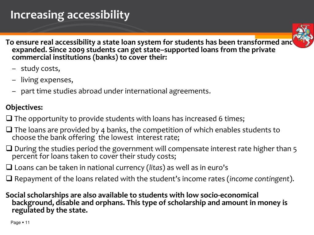 Increasing accessibility