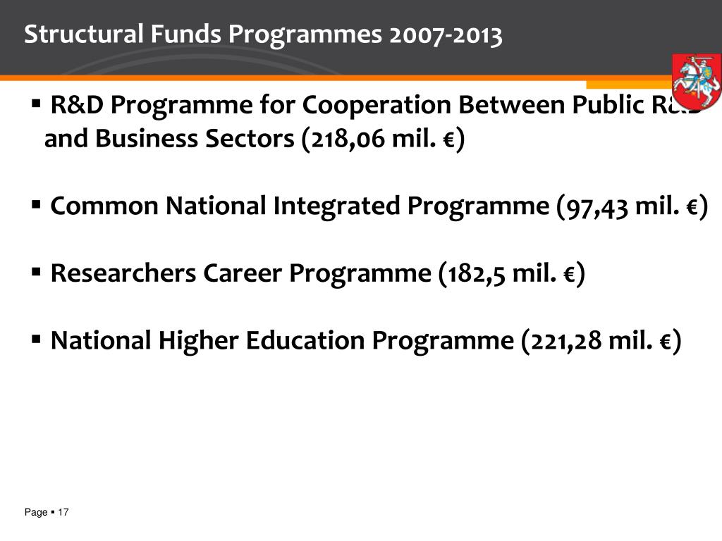 Structural Funds Programmes