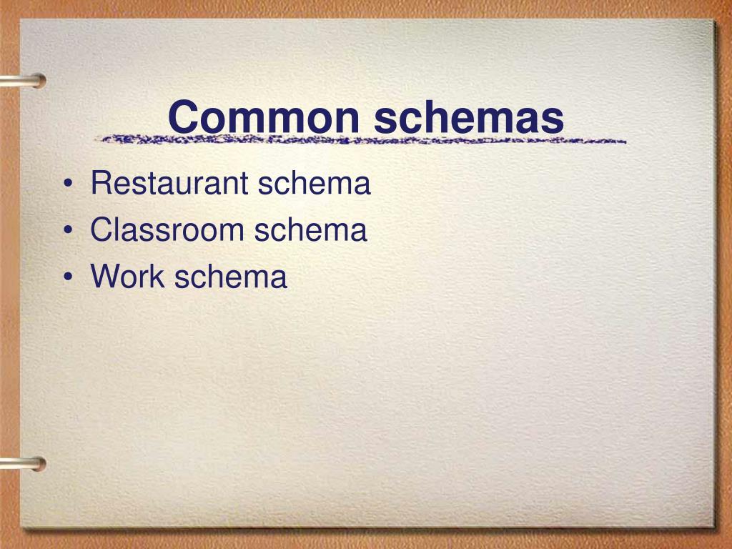 Common schemas