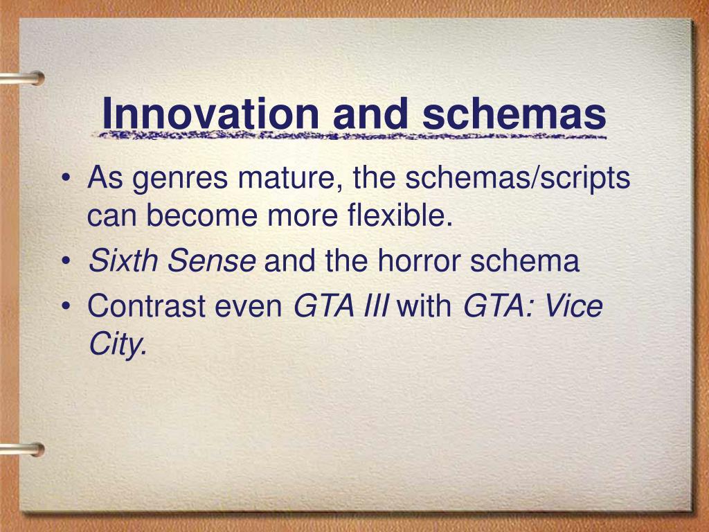 Innovation and schemas