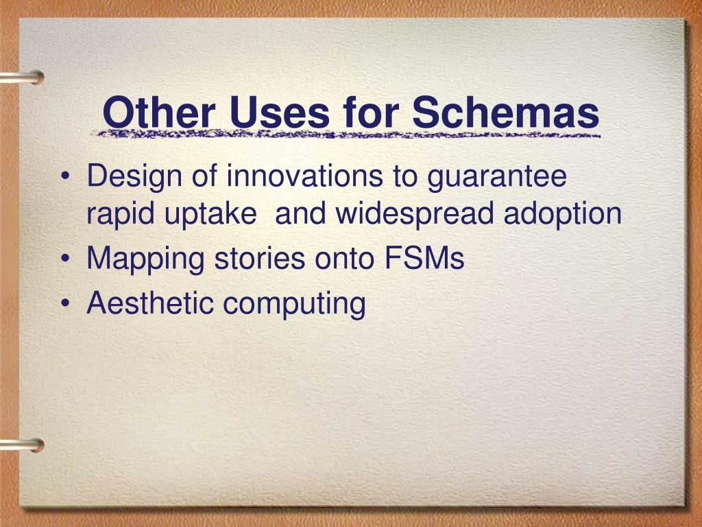 Other Uses for Schemas