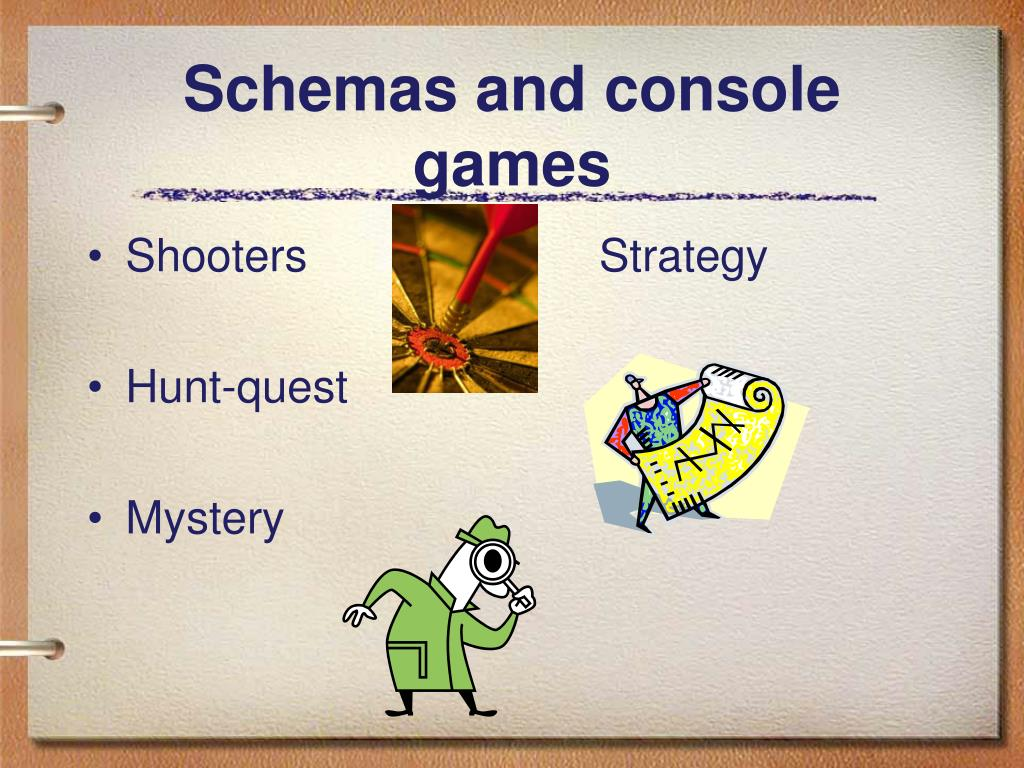 Schemas and console games