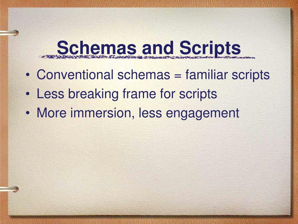 Schemas and Scripts