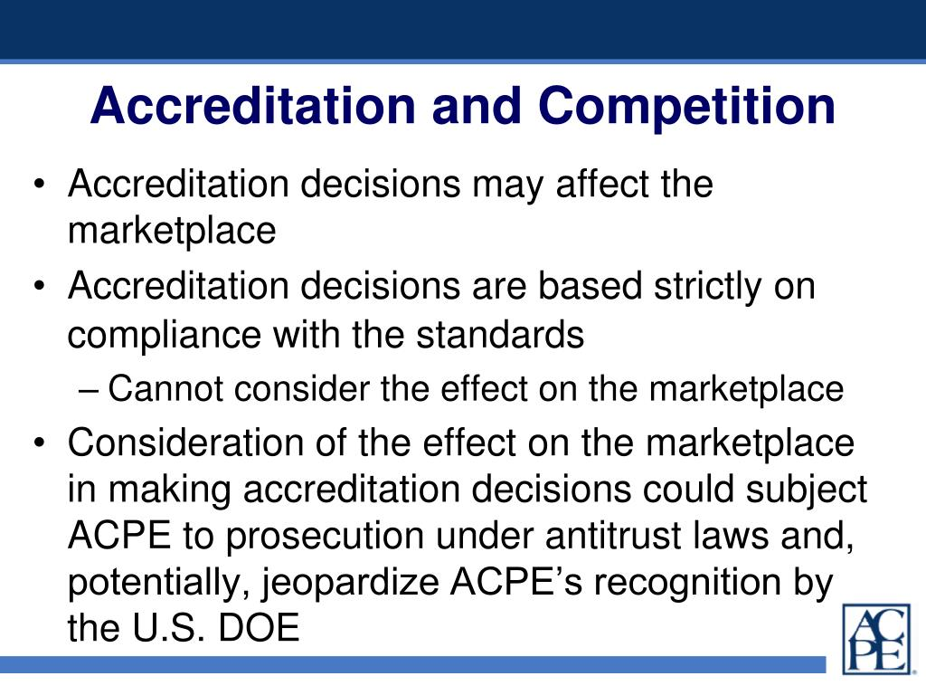 Accreditation and Competition
