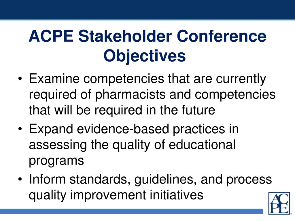 ACPE Stakeholder Conference