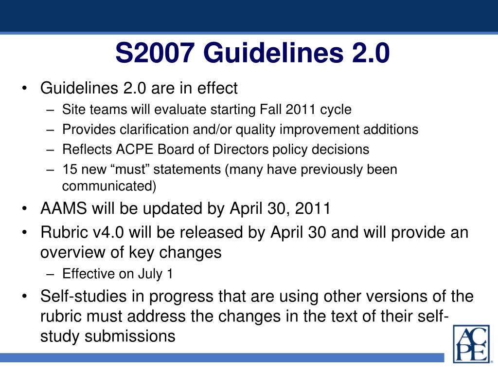 S2007 Guidelines 2.0