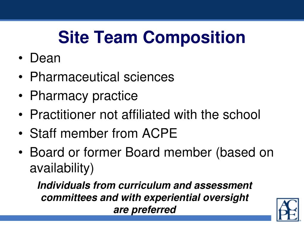 Site Team Composition