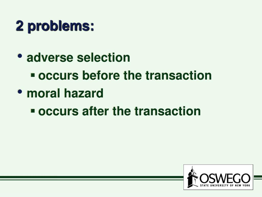 2 problems: